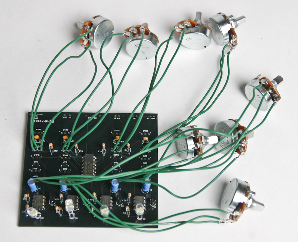 Our First Components To Be Added Circuit Are The Potentiometers Note That Your Kit Has Two Different Valued Pots POT1 POT4 50kB And POT5 POT8