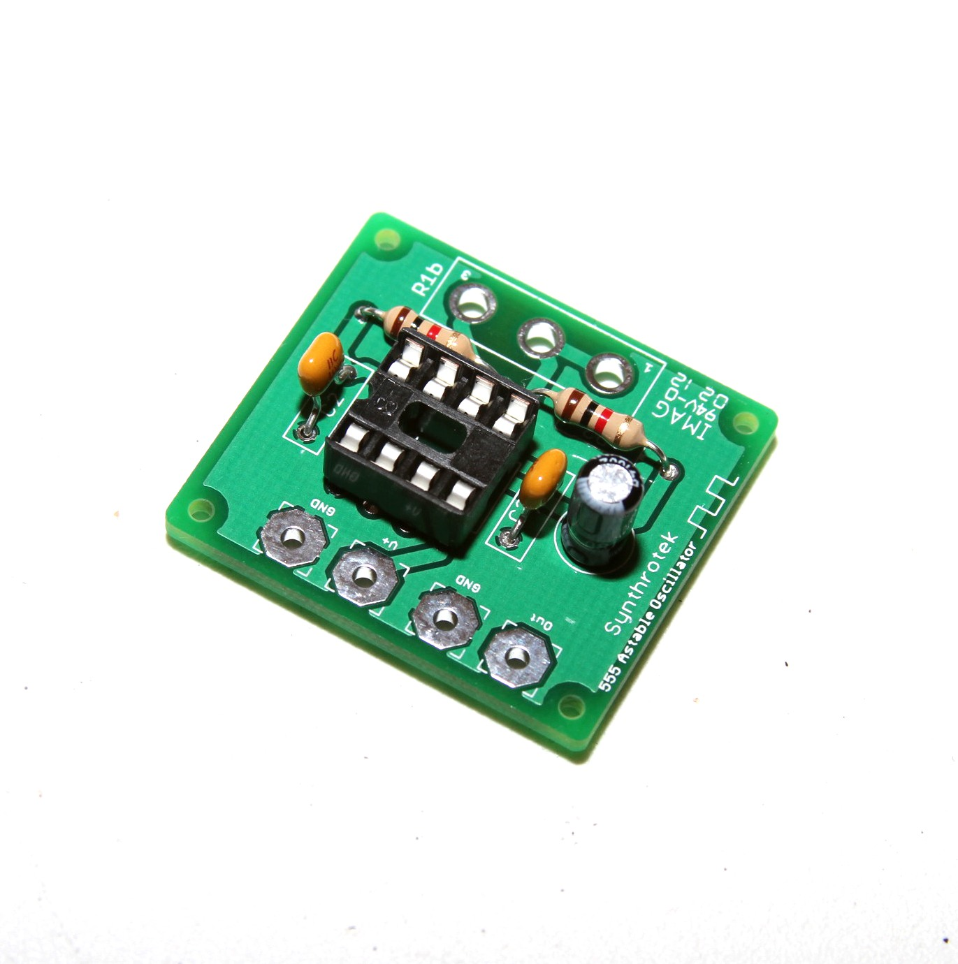 555 Timer Assembly Instructions Synthrotek Lm555 Circuit Page Oscillator Lfo Diy Kit