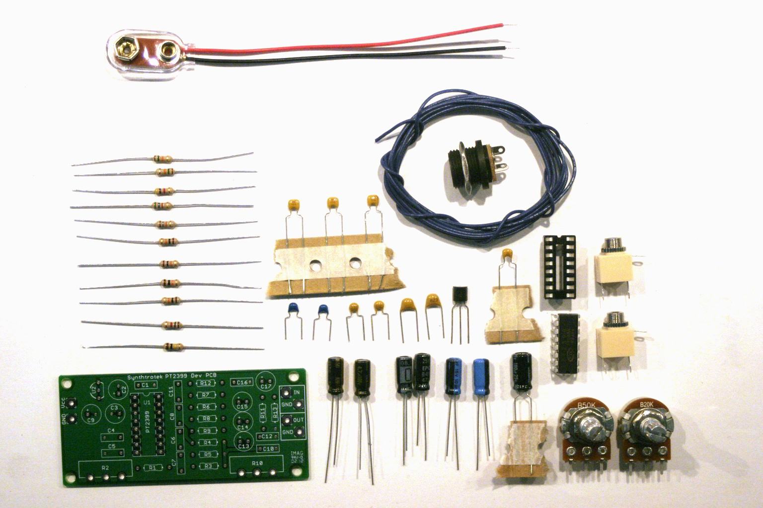 Pt2399 Dev Delay Assembly Instructions Synthrotek Electronic Wiring Board Diy Circuits