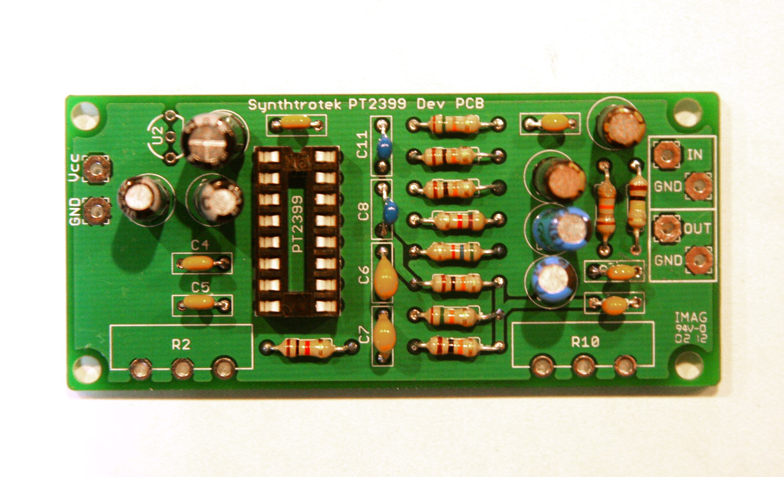 Pt2399 Dev Delay Assembly Instructions Synthrotek Pin Circuit Board Capacitors Electronics Operational Amplifiers On Diy