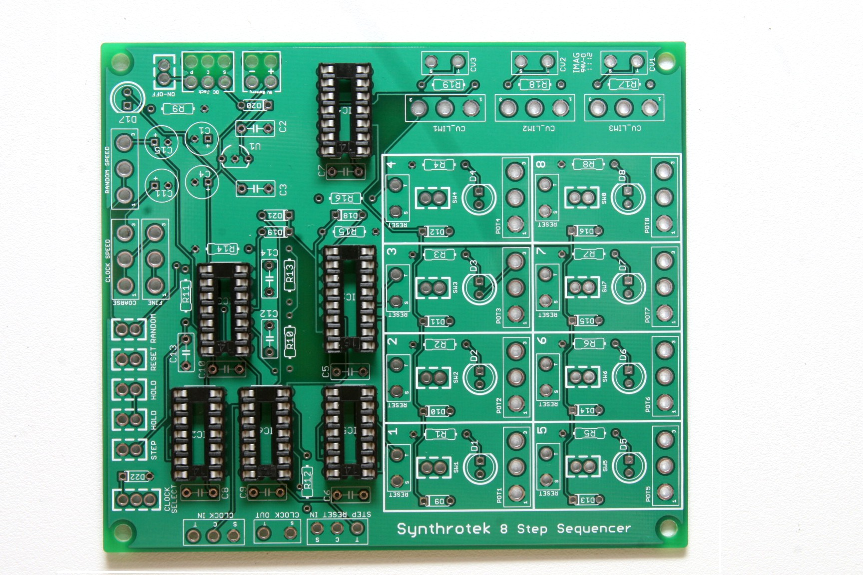 8 Step Sequencer Assembly Instructions Synthrotek Cmos 4017 Sequential Timer Pcb Components