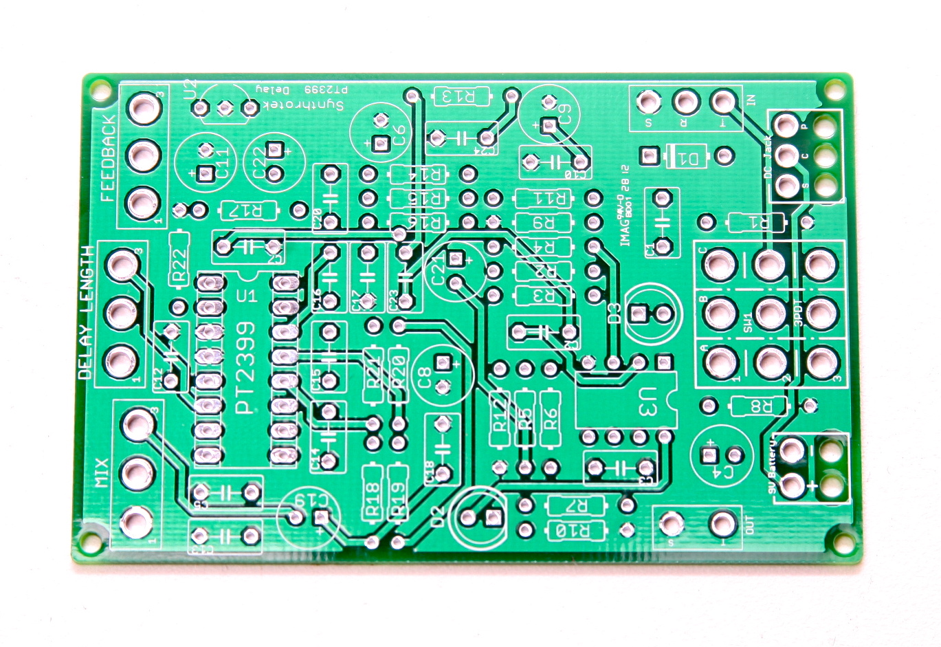 Pcb Analog Synth Synthrotek Diy Circuit Board
