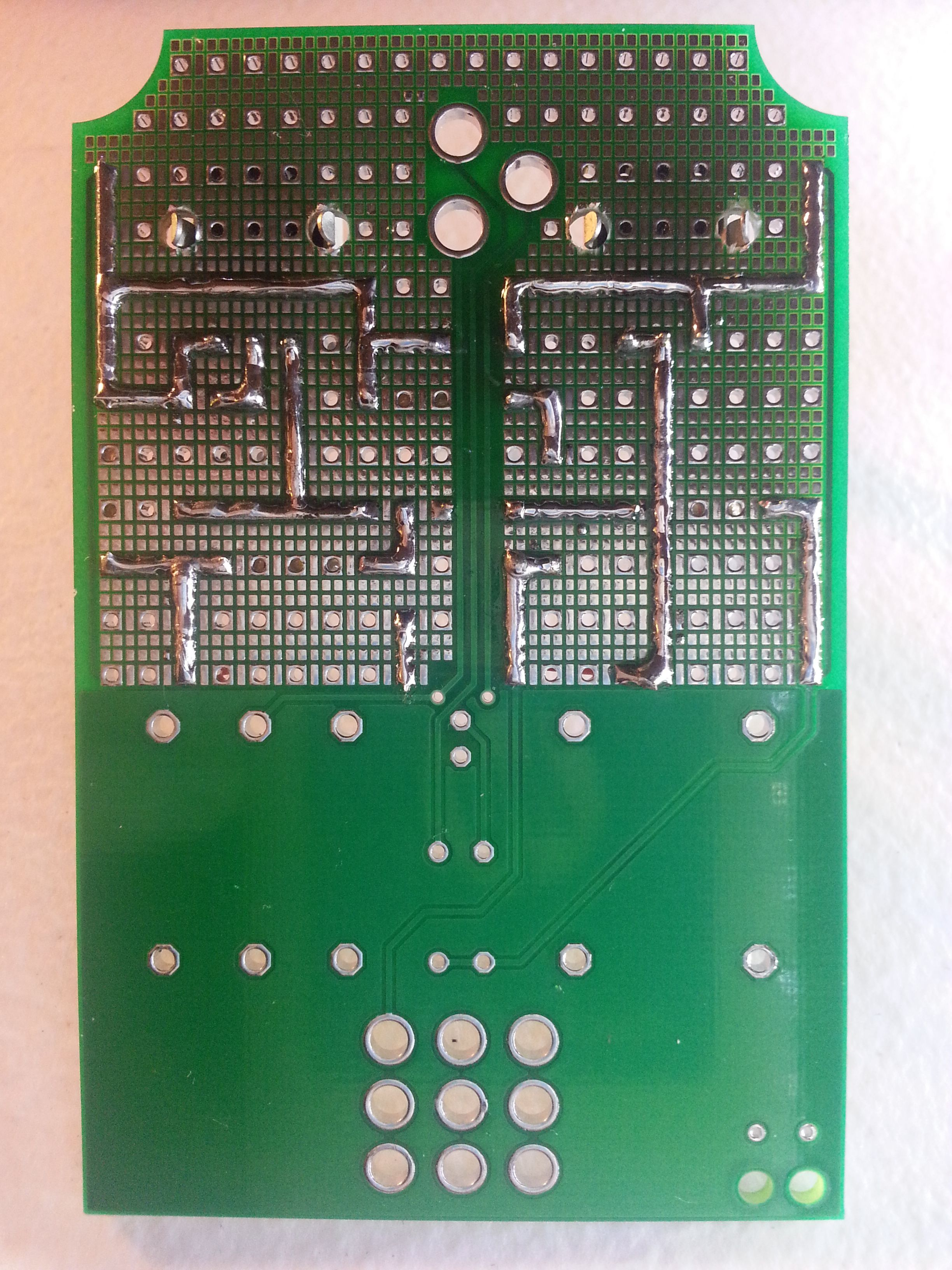 Diy Stompbox Boost Demo Project Synthrotek This Was The Original Optical Theremin Circuit 12 Traces Solder Side
