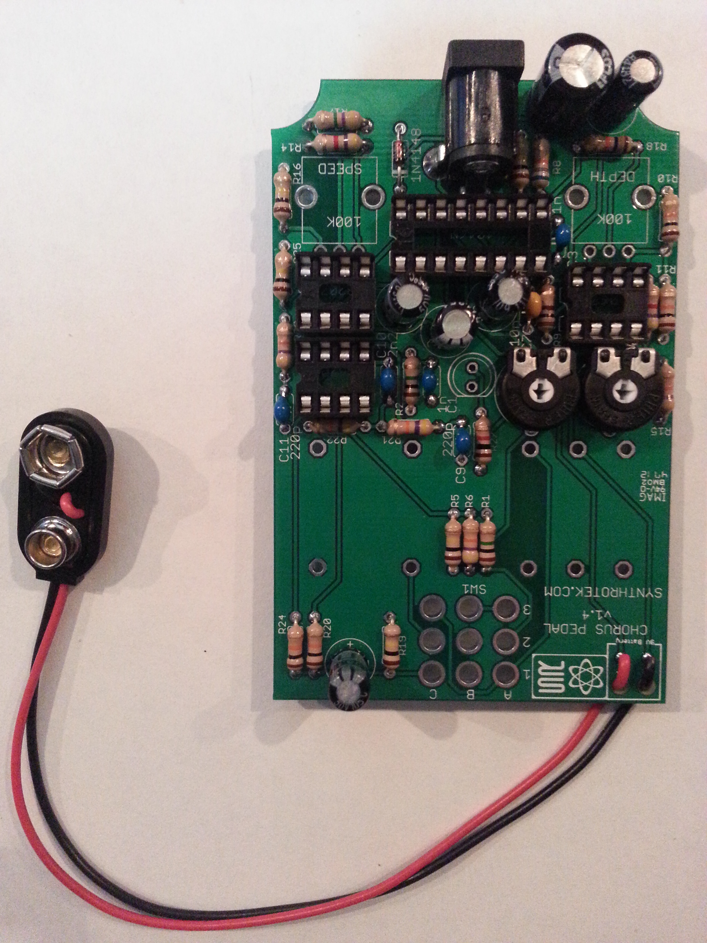 Chorus Pedal Assembly Instructions Synthrotek Diy Power Supply Circuit Board For Guitar Effect Pedals And Stomp