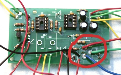 Step 10: DC Jack Match the wiring in the circle with the DC Jack wiring shown below.