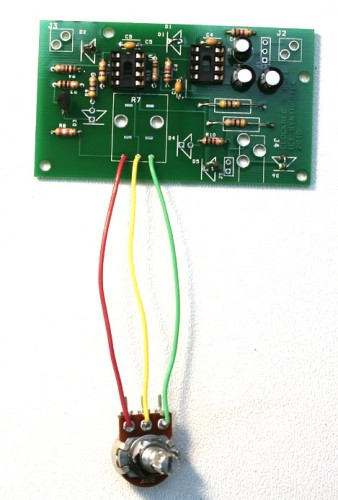 Step 5: Potentiometer Make sure you wire the contacts from the Pot to the PCB as shown in the photo.