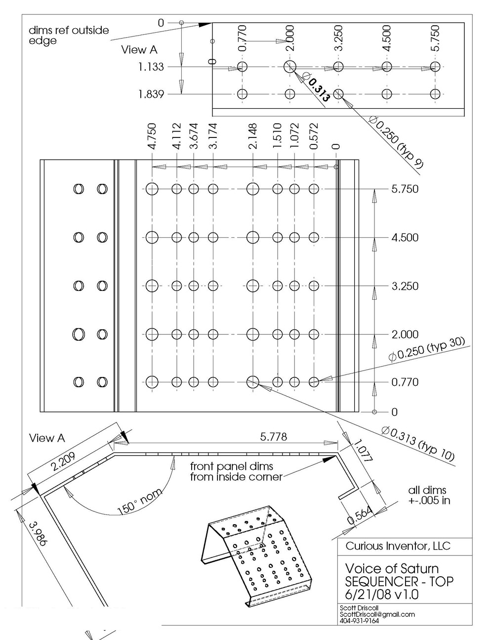 Voice Of Saturn Analog Sequencer Synthrotek Frame Diagram Case Template
