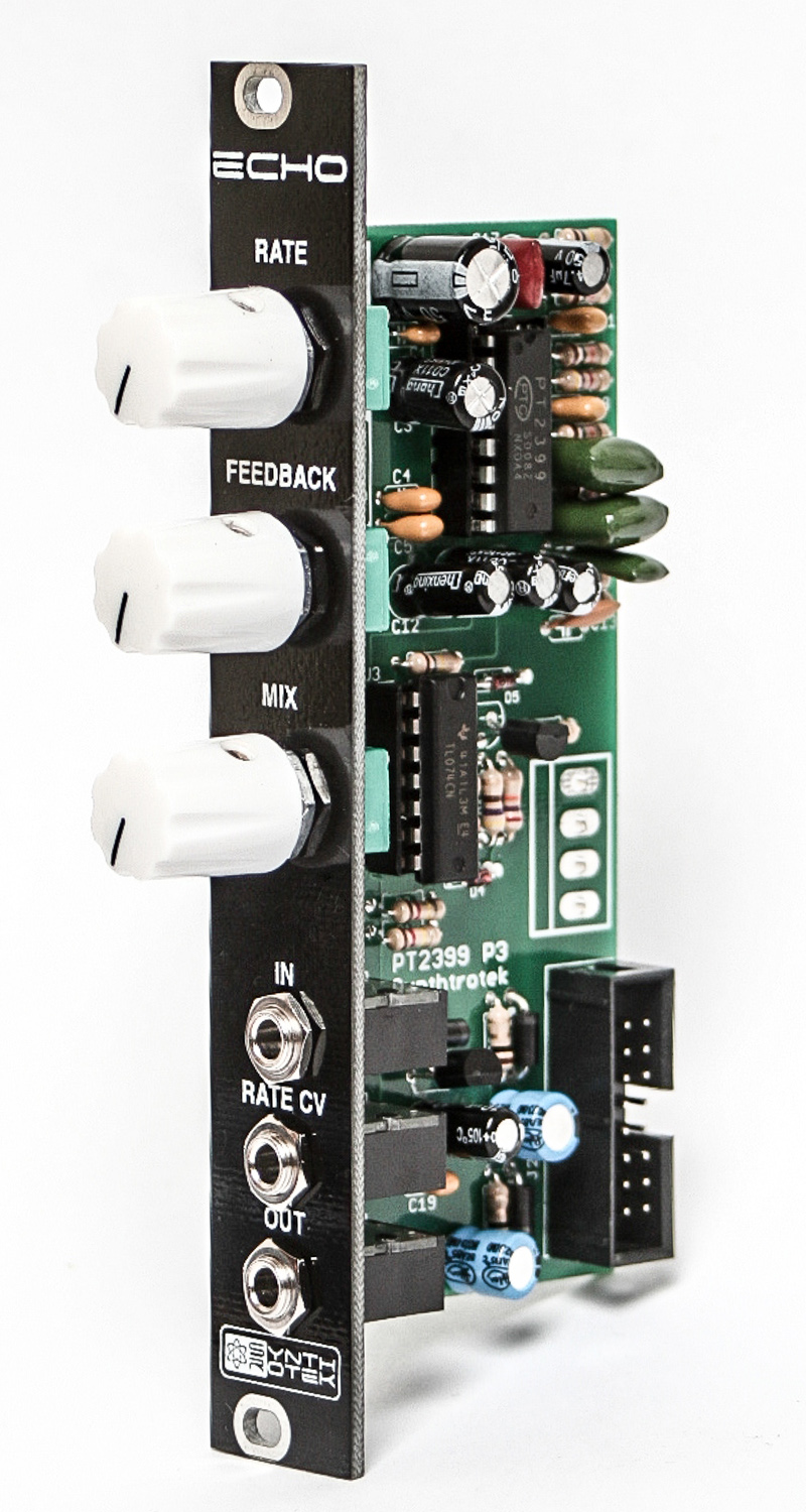 Echo Voltage Controlled Synthrotek Switch Using The 555 Formerly Known As Eko Is A Very Unique Pt2399 Ic Featuring Rate Manual Controls For Feedback And Mix