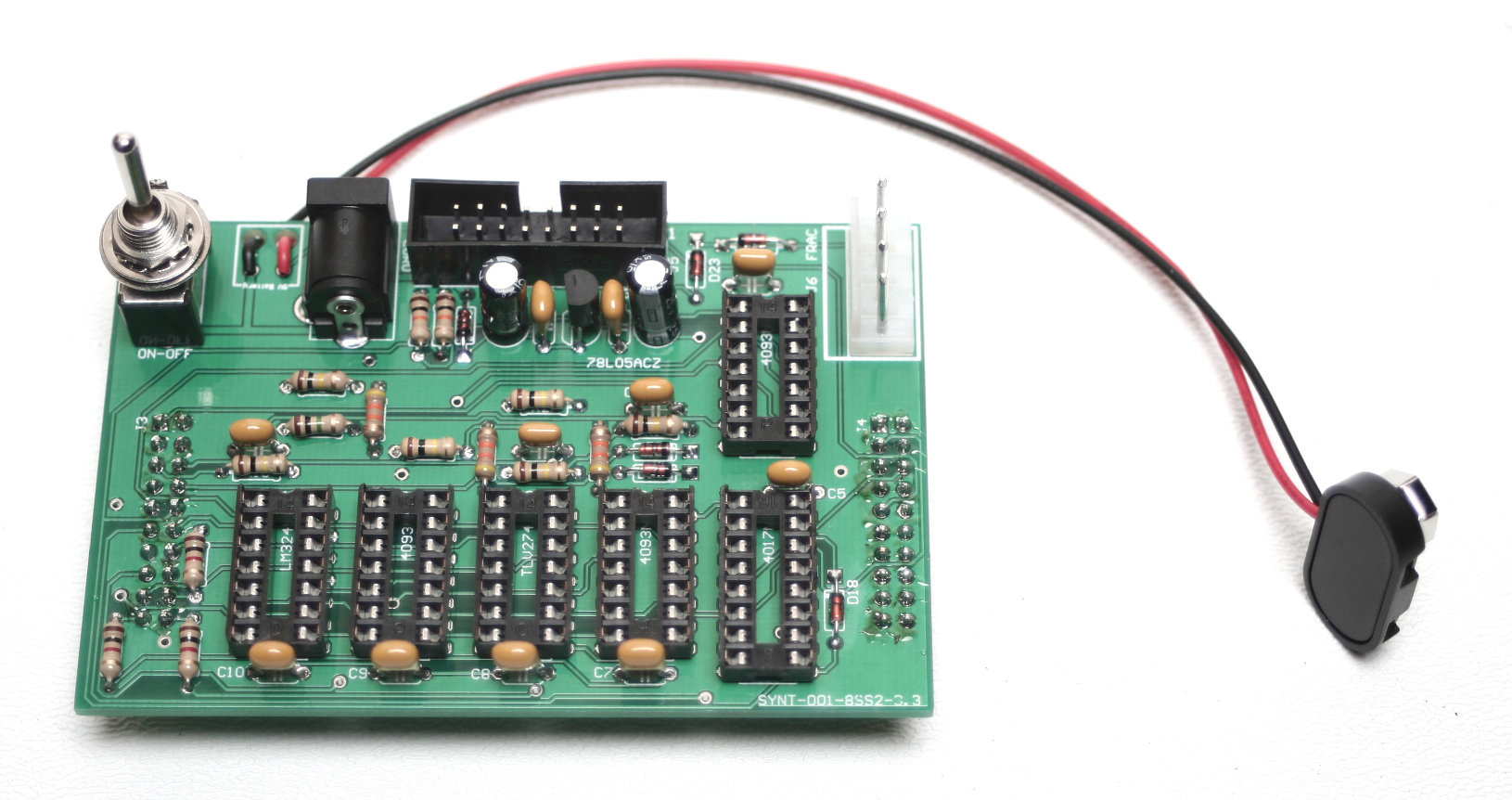 Sequence 8 Assembly Instructions Synthrotek Idctheremin Schematic Diagram Insert Your Power Connector Of Choice Eurorack 16 Pin Male Shrouded Keyed Header 4 Frac 21mm Right Angle Dc Jack Or 9v Battery Clip And