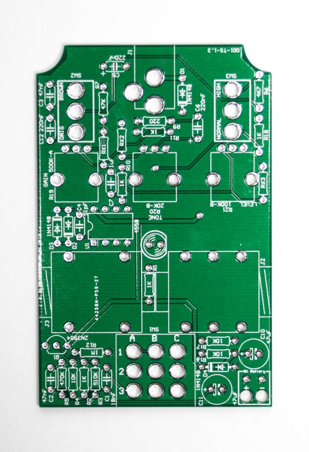 Mean Screamer Wired Assembly Instructions Synthrotek This Was The Original Optical Theremin Circuit Tube Clone Pcb