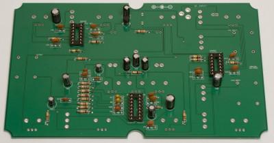 electrolytic caps soldered