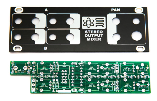 Synthrotek 1U Stereo Output Mixer PCB/PANEL