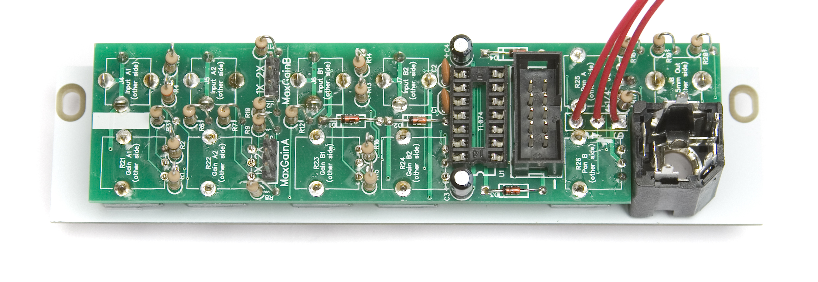 MST Stereo Output Mixer Assembly Instructions | Synthrotek