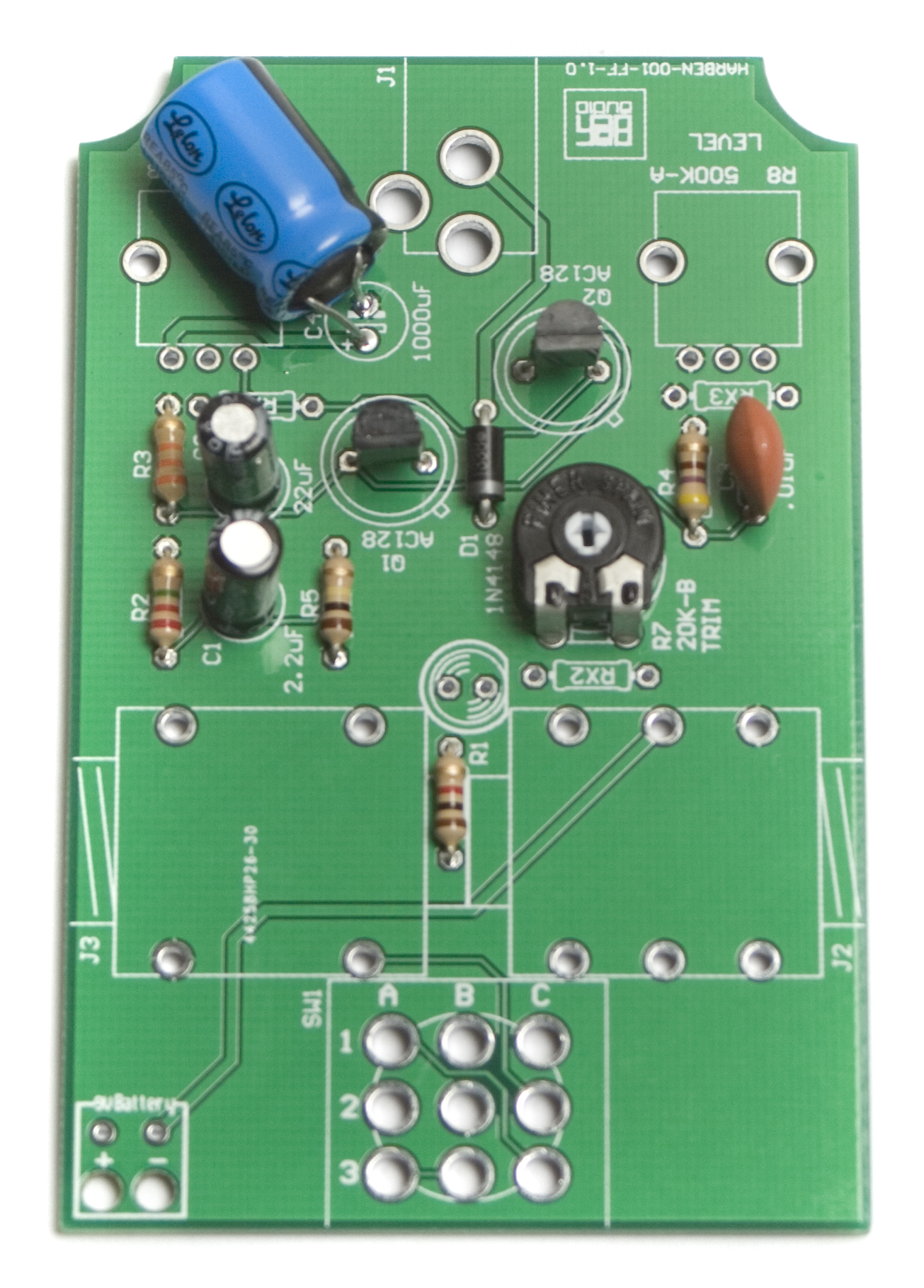 Wired Face The Fuzz Assembly Instructions Synthrotek Guitar Pedal Schematic Together With Transistor Tester Capacitors