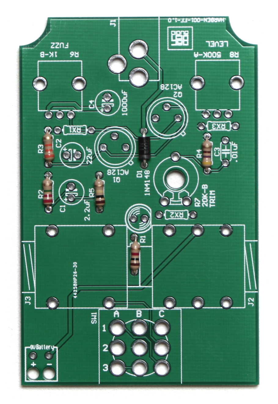 Face The Fuzz Pcb Mount Assembly Instructions Synthrotek Once Finished It Might Look Similar To Setup Below Above Resistors And Diode