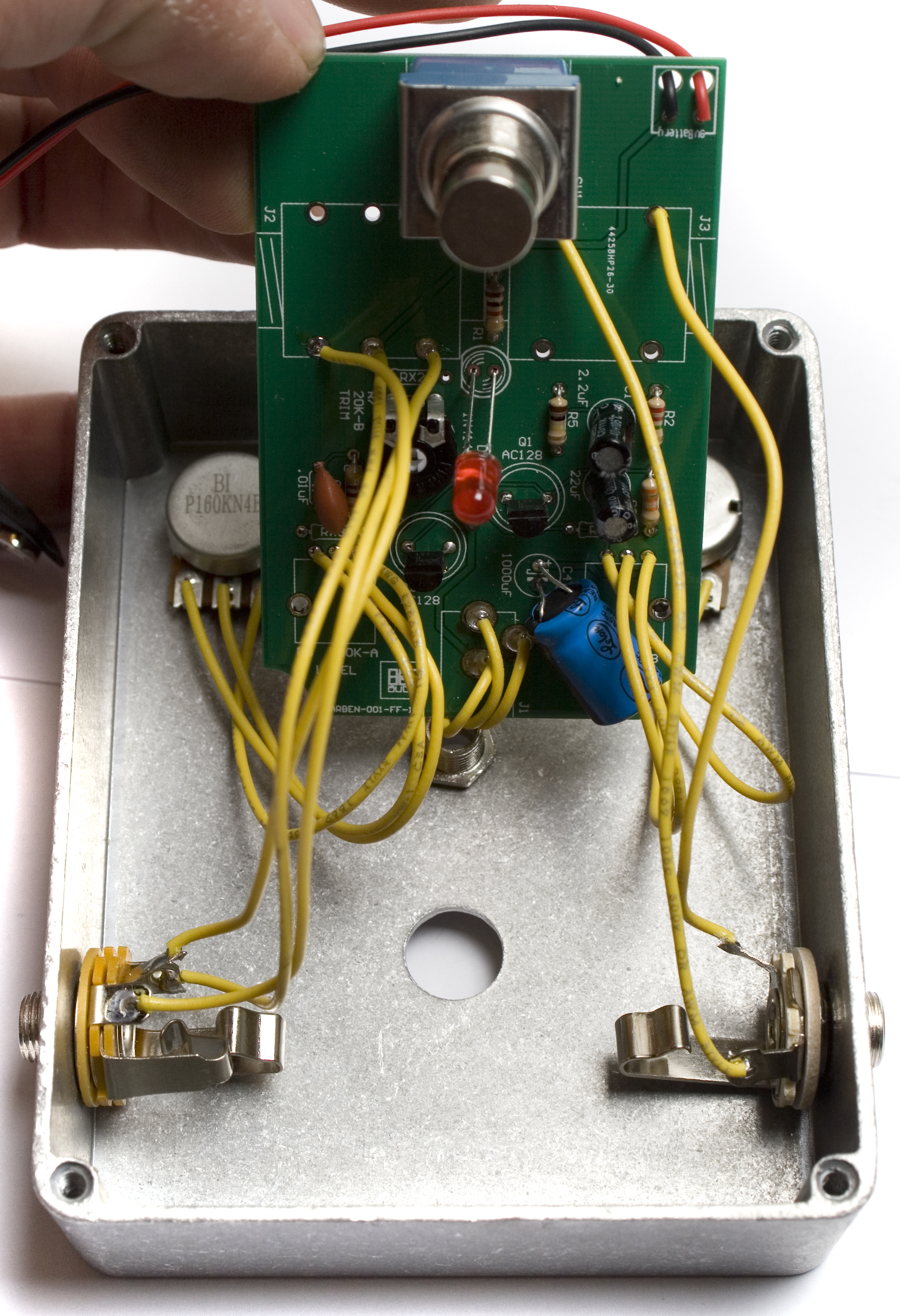 Wired Face The Fuzz Assembly Instructions Synthrotek Guitar Jack Wiring Install