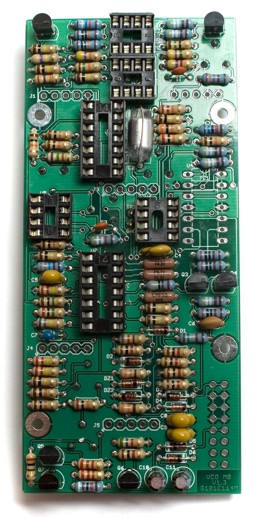 Mst Vco Assembly Instructions Synthrotek Electronic And Engineering Terms Transistor Envelope Detector Circuit Transistors