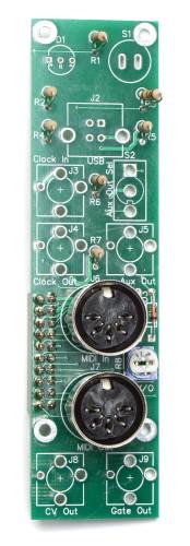 MST Midi to CV Control Panel Midi Jacks