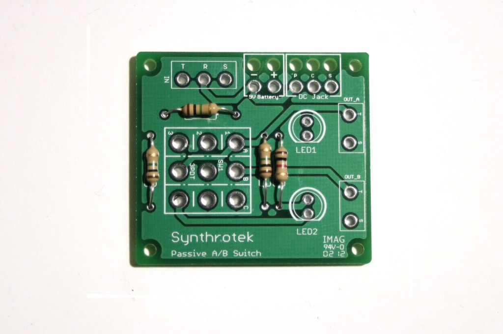 Passive, A/B, Switch, 3PDT, Electronic, Circuits, A/B Box, Synthrotek