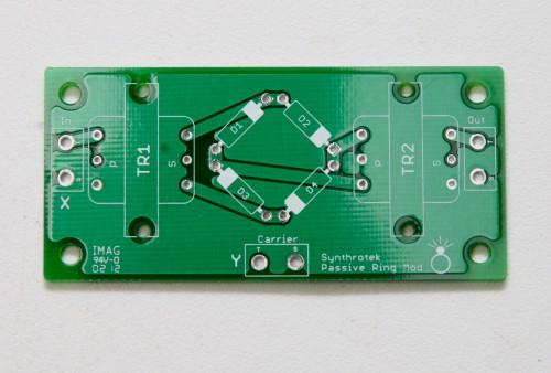 Passive Ring Modulator, PCB, Synthrotek, synthesizer, analog