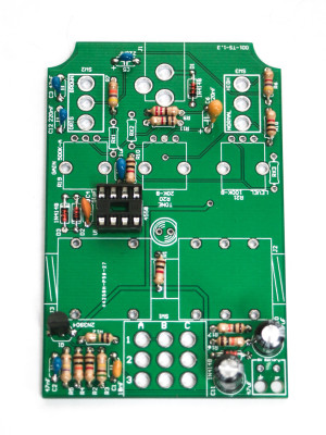 PCB Tube Screamer Resistors, Capacitors and Sockets