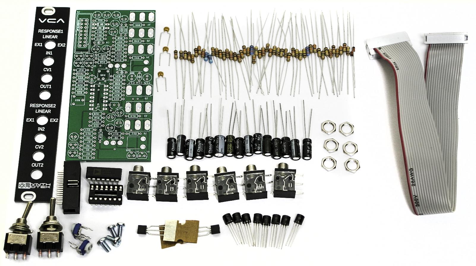 Eurorack VCA Full Kit – Synthrotek