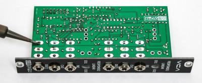 Eurorack VCA soldering remainder pins of jacks