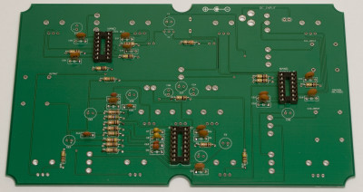 IC sockets soldered