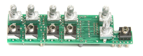 MST Stereo Output Mixer Jacks and Pots