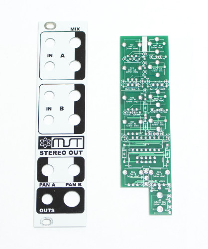 MST Stereo Output Mixer PCB and Panel Set