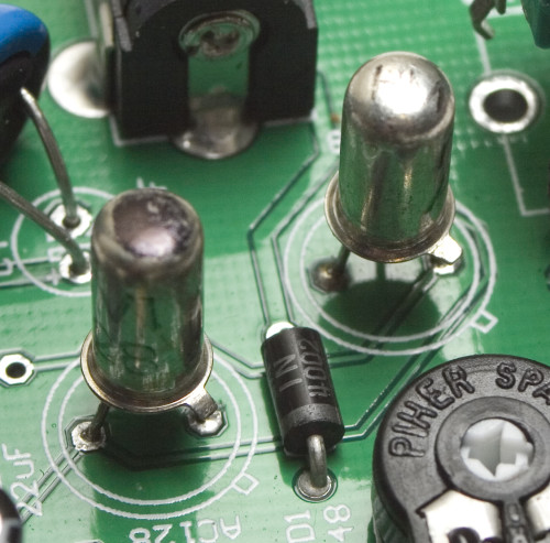 Face the Fuzz Germanium Transistor placement