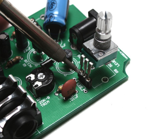 placing the potentiometer