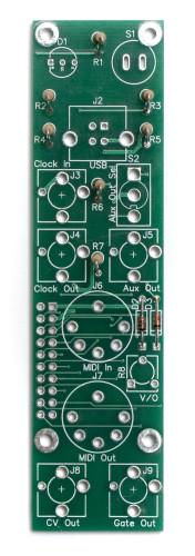 MST Midi to CV Control Panel Resistors