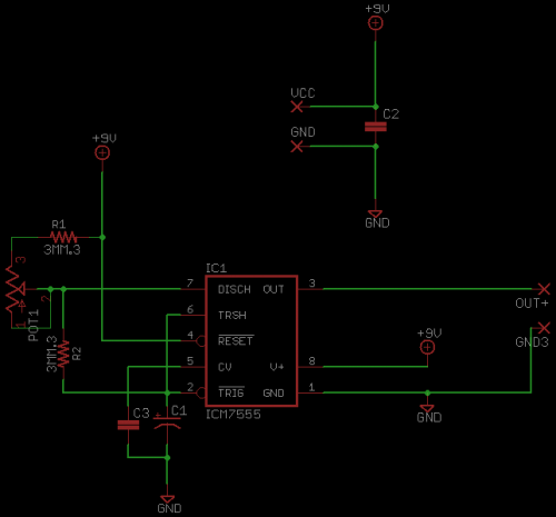 555 Timer Schematic | Synthrotek on